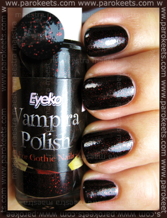 Swatch: Eyeko - Vampira Polish for Gothic Nails