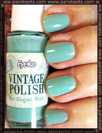 Swatch: Eyeko - Vintage Polish for Elegant Nails