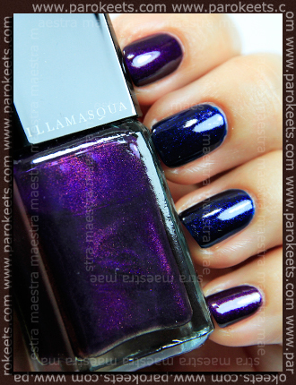 Swatch: Illamasqua - Baptiste and Phallic (2 coats each)