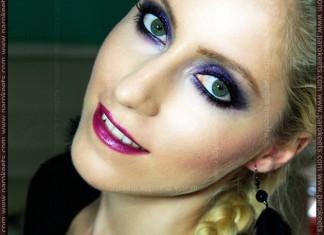 Make-up: Purple Smokey Eyes by Maestra