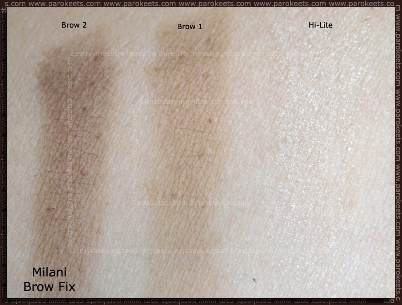 Swatch: Milani: Brow Fix (02 Medium)