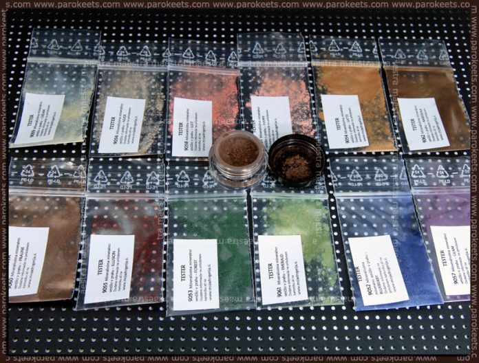 Mineralissima: Glam, Blueberry, Emerald, Forest, Illusion, Praline, Amberina, Latte, Happy, Lust, Nude, Cream