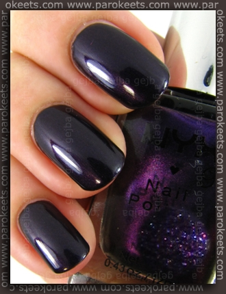 NYX Girls - Purple Noir swatch by Parokeets