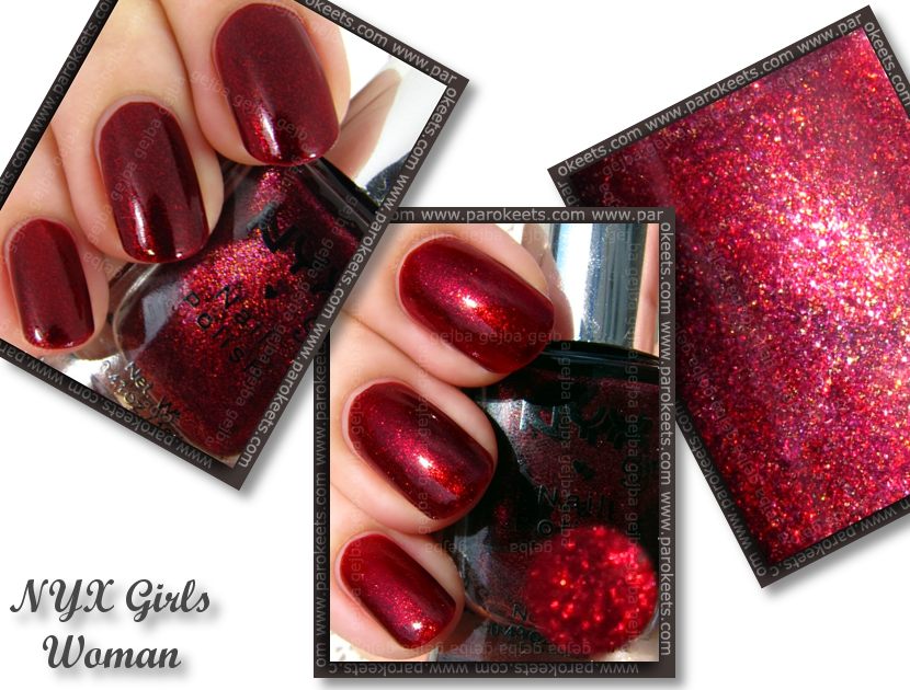 NYX Girls - Woman swatch by Parokeets