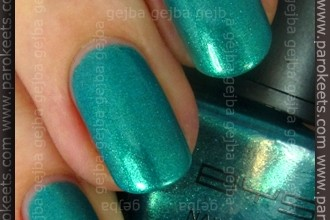 BYS - Green With Envy swatch by Parokeets
