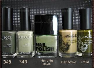 Comparison: Kiko - 348, 349 vs. H&M - Hunt Me Down vs. MeMeMe - Distinctive, Proud