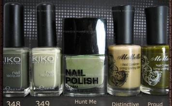 Comparison: Kiko - 348, 349 vs. H&M - Hunt Me Down vs. MeMeMe - Distinctive, Proud