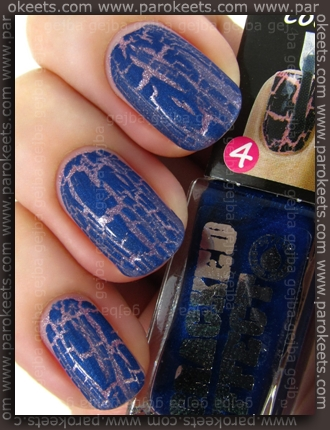 Depend: 243 + 5002 cracked effect swatch by Parokeets