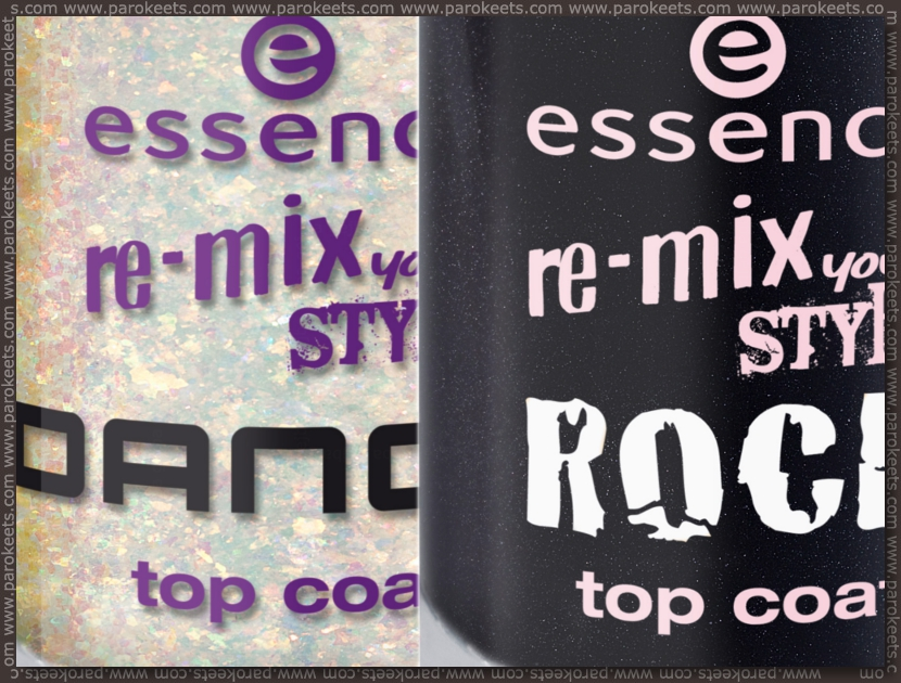 Essence Re-mix your style TE: Dance, Rock top coat preview