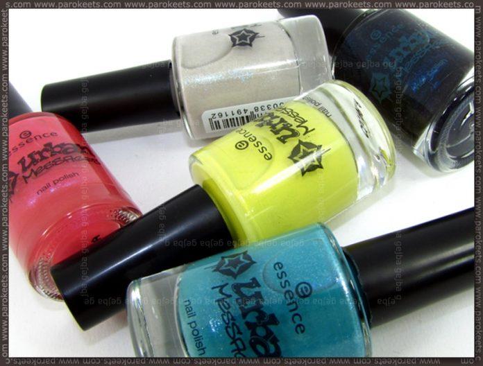 Essence Urban Messages TE nail polishes