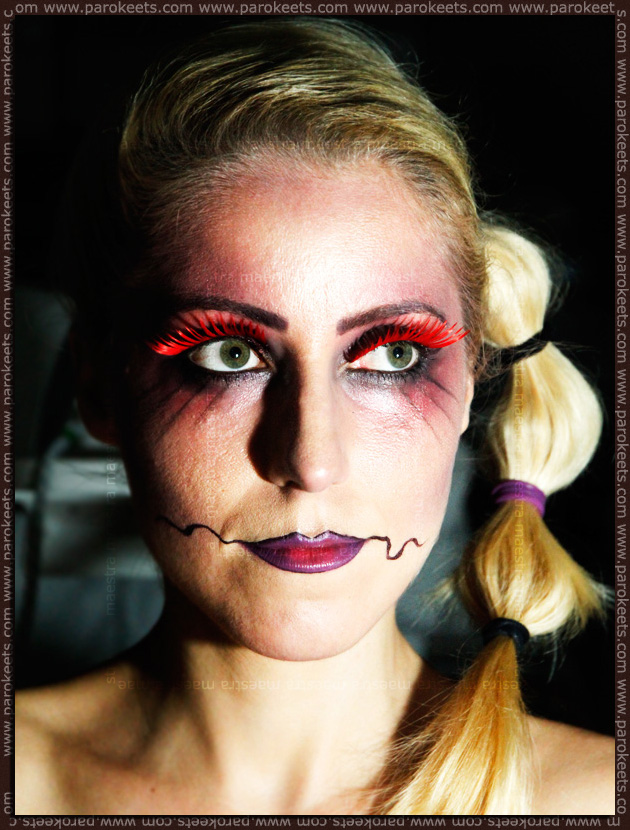 Artistic make up look: Illamasqua - Theatre Of The Nameless inspired: Future Clown by Maestra