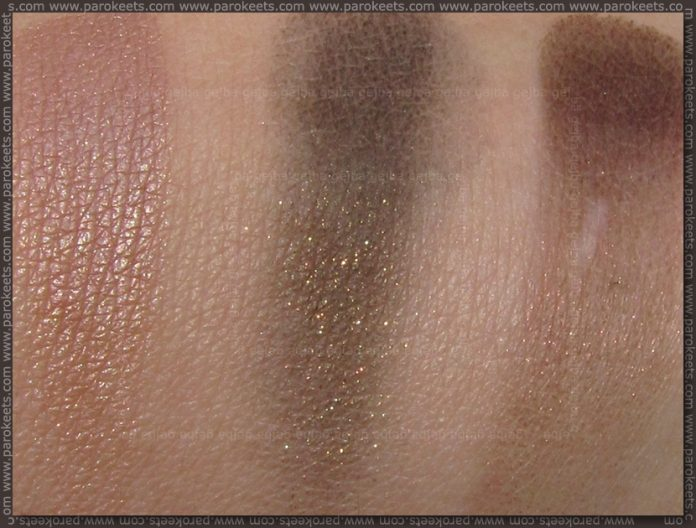 Isadora Forest Groove: Forest eye shadow trio swatch