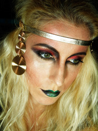 Artistic make up look: Illamasqua - Theatre Of The Nameless inspired by Maestra