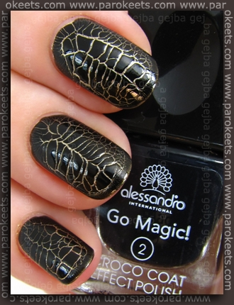 Alessandro Go Magic! - Croco Glam LE swatch by Parokeets