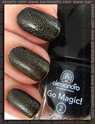 Alessandro Go Magic! - Croco Glam LE thinner cracks swatch