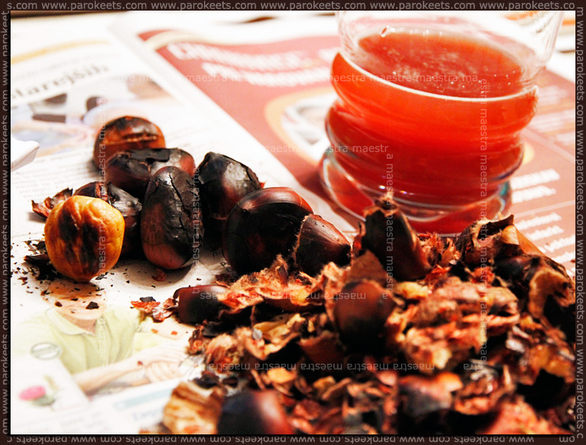 Chestnuts and young wine