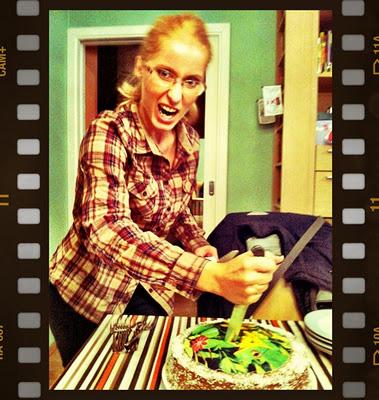 Birthday Girl & the cake
