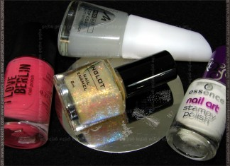 Essence I Love This City, Inglot 205, H7 + Essence Stamp Me White, Manhattan Pro Mat pink challenge products