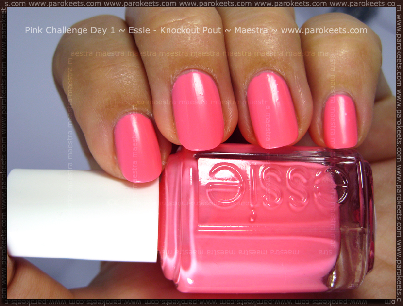 Pink Challenge Day 1: Essie - Knockout Pout by Maestra
