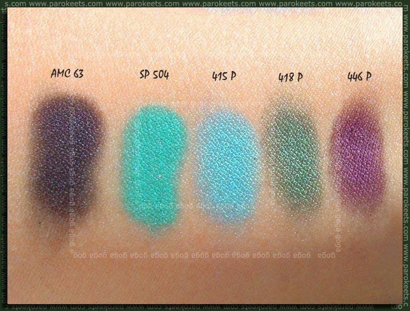 Inglot eyeshadow palette swatch