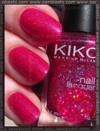 Kiko Rosso Lampone Multicolour (no. 241) swatch by Parokeets