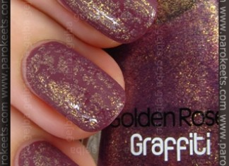 Kiko Rosa Antico Scuro (no. 317) + Golden Rose Graffiti 11 swatch