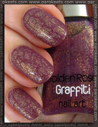 Kiko Rosa Antico Scuro (no. 317) + Golden Rose Graffiti 11 swatch
