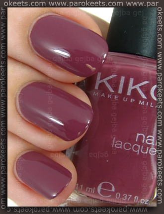 Kiko Rosa Antico Scuro (no. 317) swatch by Parokeets