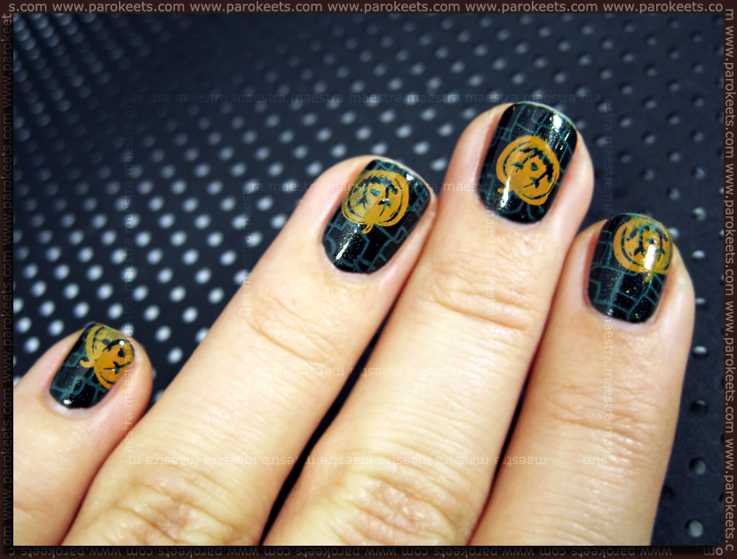 Pumpkins Manicure for Halloween 2011 by Maestra