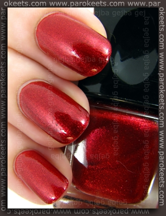Alessandro Glam Session - Red Rebel swatch