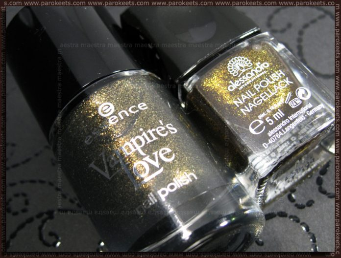 Comparison: Essence - Gold Old Buffy (Vampires LoveTE) vs. Alessandro - Marvelicious Dream (Glam Session LE)