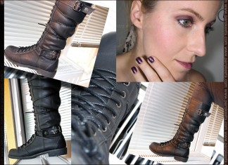 Essence Vampire's Love make-up look & new boots by Maestra