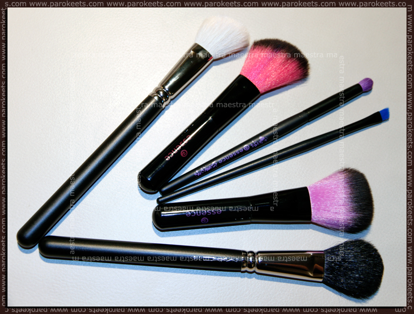 Essence brushes vs. MAC 168 and MAC 116