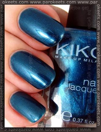 Kiko Verde Ardesia Scuro Perlato - nail polish no. 299 swatch