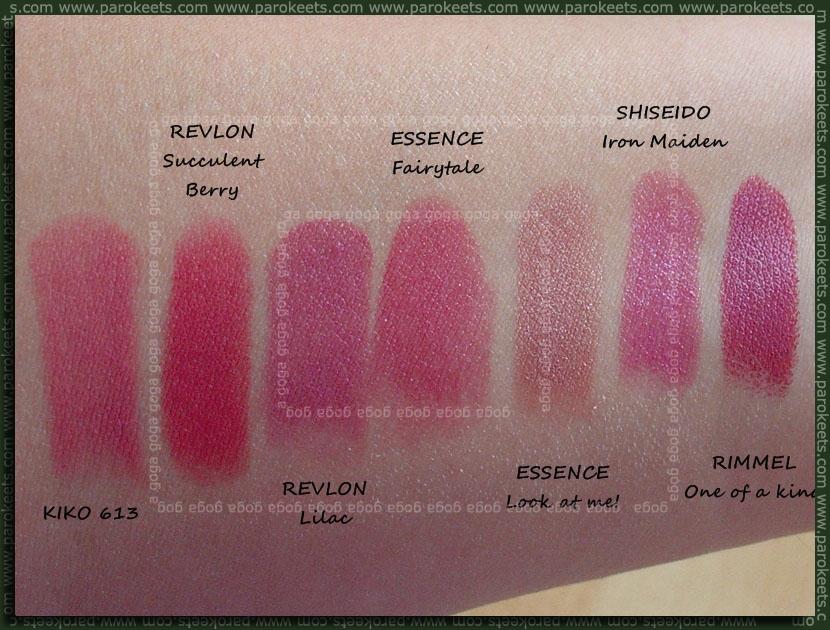 Lipsticks swatch