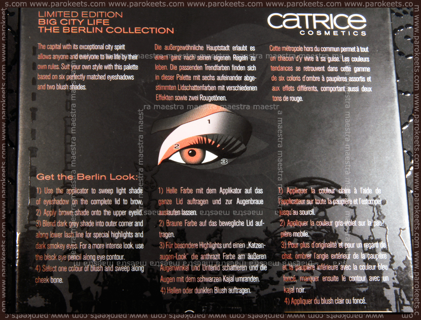Catrice - Big City Life LE: The Berlin Collection (instruction)