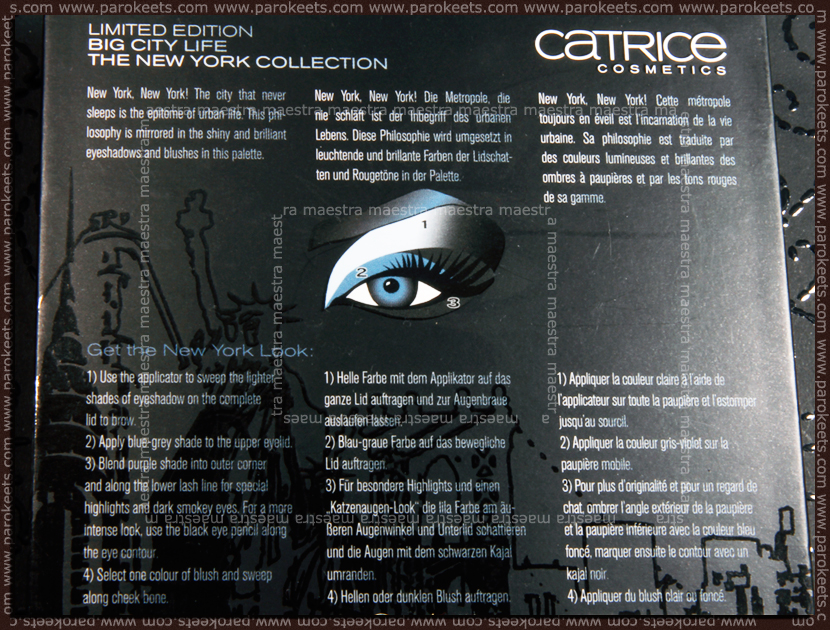 Catrice - Big City Life LE: The New York Collection (instructions)