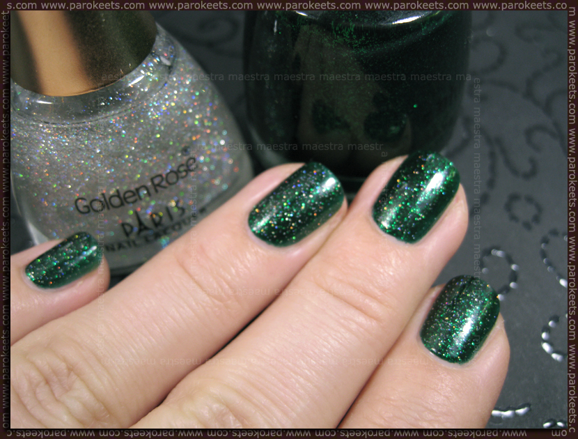 China Glaze - Emerald Sparkle and Golden Rose (Paris Nail Lacquer) - 98