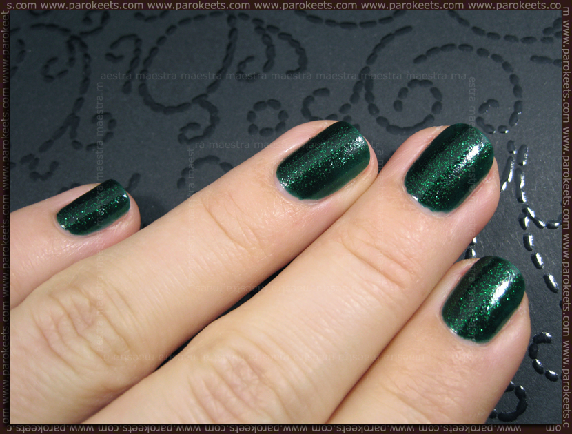 China Glaze - Emerald Sparkle (2 coats)