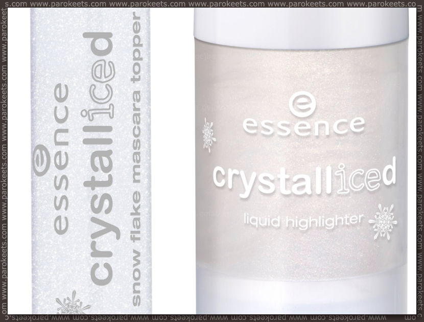 Preview: Essence Crystalliced trend edition liquid highlighter, snow flake mascara topper