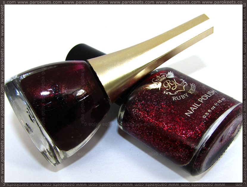 Golden Rose Paris 82 + Ruby Kisses Ruby Slippers