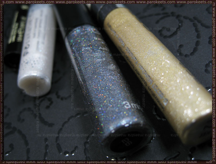 Gosh and Make Up Factory Glitter eyeliners