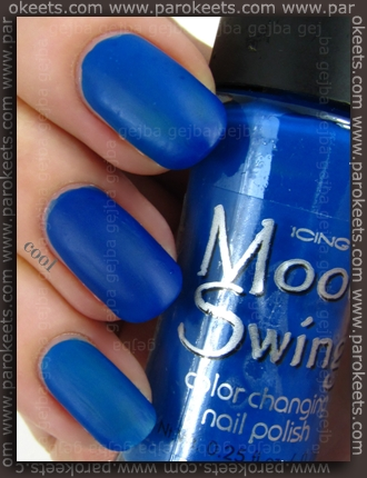 Icing Mood Swing Energized-Calm swatch by Parokeets