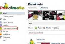 Parokeets blog Facebook giveaway