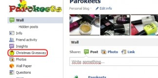 Parokeets blog Facebook giveaway