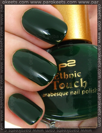 p2 Ethnic Touch LE - Patchouli nail polish swatch by Parokeets