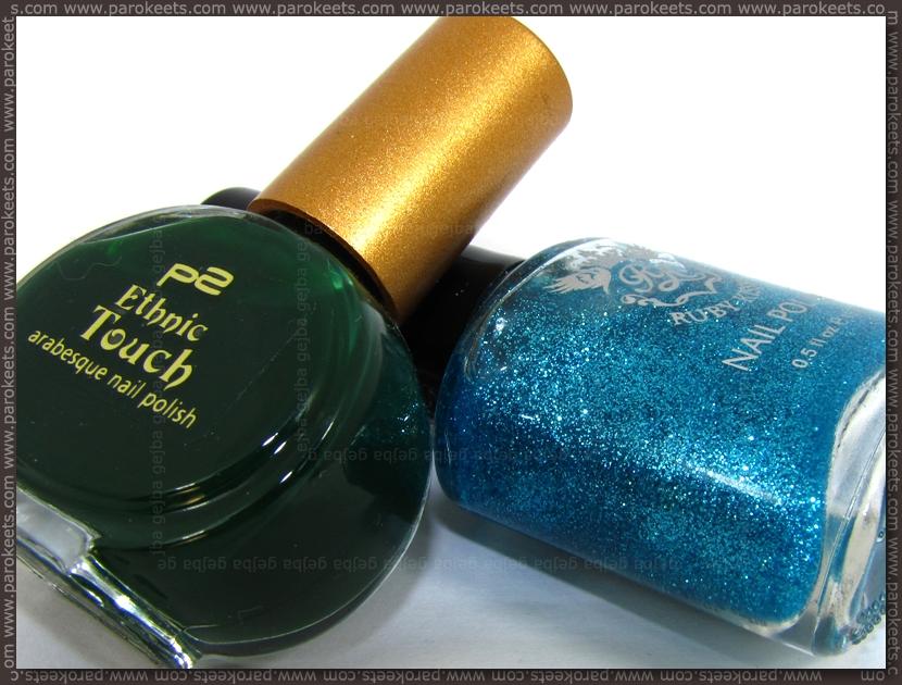 p2 Patchouli + Ruby Kisses Baby Blue bottels