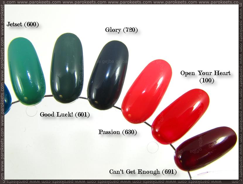 p2 nail polish swatches
