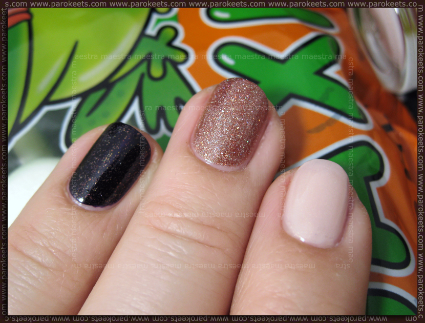 Swatch: Catrice - Mona Lisa Is Staring Back, OPI - DS Illuminate, OPI - DS Mystery