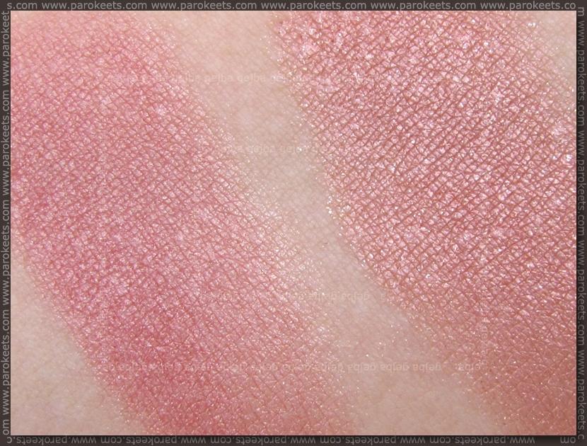 Comparison Golden Rose Terracotta Stardust 01 vs. Flormar Terracotta Blush On 45 swatch